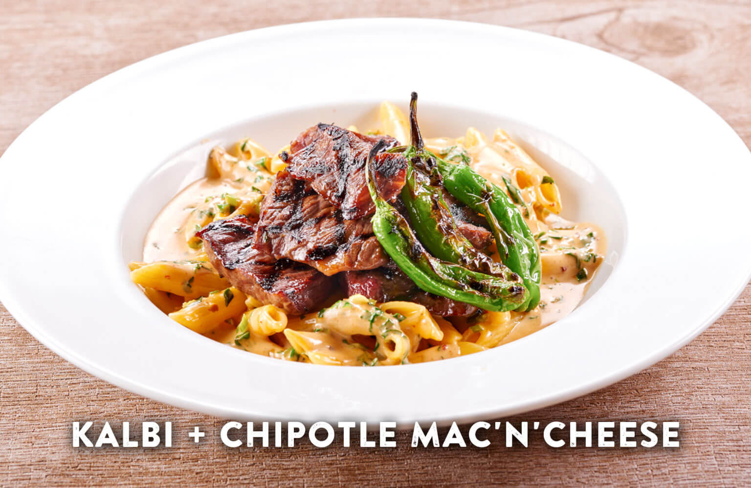 BBQ KALBI + CHIPOTLE MAC'N'CHEESE